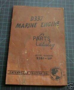 CAT Caterpillar D337 Marine Parts Manual Book catalog