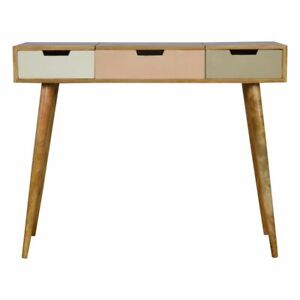Blush Pink Dressing Table with Foldable Mirror (Handcrafted) IN675
