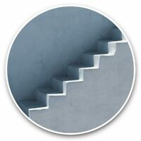 2 x Vinyl Stickers 7.5cm - Concrete Staircase Architecture Design  #44701