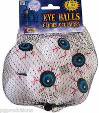 7 FUNNY EYEBALLS SET Pack Joke Gag Ping Pong Balls Movie Puppet Eyes Prop White