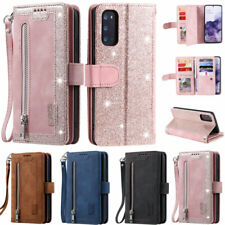 Zipper 9 Card Wallet Leather Flip Case Cover For Samsung S20 S10 S9 Plus A51 A41