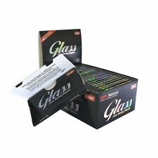 1 BOX GLASS 1/4 CLEAR CELLULOSE Cigarette Rolling Papers - 24 Pack