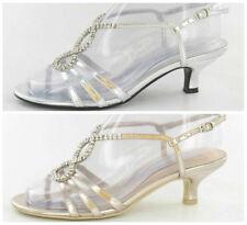 Spot on Women's Synthetic Kitten Mid Heel (1.5-3 in.) Shoes