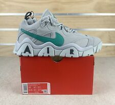 New Nike Air Barrage Low Suede Grey Fog Neptune Green New Shoes Mens Sz 10