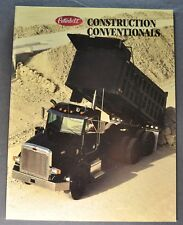 1988 Peterbilt Truck Brochure Construction Conventional Cab Excellent Original
