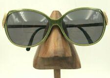 1b6b2b27ca25 Vintage Christian Dior Optyl 2416 60 Green Gold Cat Eye Sunglasses Frames