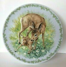 "Vintage Royal Copenhagen Nature's Children ""The Fawn� Porcelain Plate Denmark"