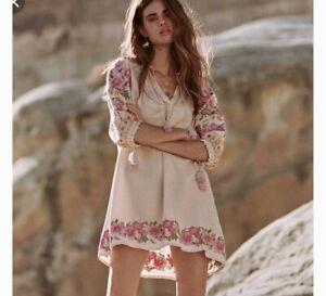 Spell & The Gypsy Cleo Embroidered Tunic Mini Dress SZ XL NWT RARE SZ