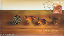 2007 UNC $1 Dollar Coin Mob of Roos Australia PNC - RARE LOW MINTAGE