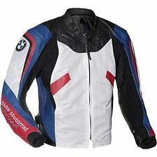 BMW WHITE MOTORBIKE RACING LEATHER JACKET CE APPROVED