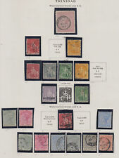 TRINIDAD & TOBAGO 1854-1969 Collection on Scott printed leaves - 12127