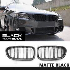Dual Slats Matte Black Front Mesh Nose Grille for BMW 5 series F10 F11 2010-2016