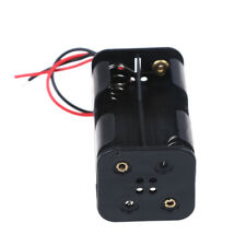 2 pcs black plastic battery holder case with wired for 4 x Aa Tc