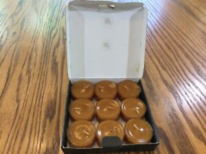 Gold Canyon Candle Tea Lights 9 - 0.5 oz Scented Brown Sugar Cookie NOS