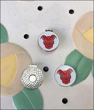 Sugar Skull Pit Bull Red Golf Ball Marker/Hat Clip - New - FREE SHIPPING