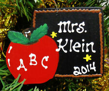 Ornament U CHOOSE NAME & YEAR Personalized TEACHER Christmas Holiday Decor