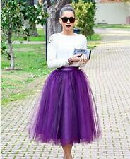 Custom-made 7 Layer Midi Tulle Skirt American Apparel Tutu Skirts Womens Pettico