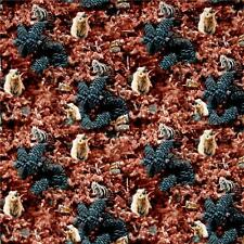 Wildflowers Chipmunks Cotton Fabric Timeless Treasures Judy Niemeyer     Bfab