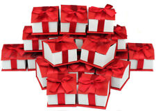 LOT OF (20) RING BOX MAGNETIC RIBBON RING BOX SHOWCASE BOX RED JEWELRY GIFT BOX