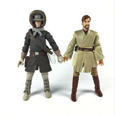 Lot 2PCS STAR WARS SAGA LEGACY OBI-WAN KENOBI & HAN SOLO HOTH Figure Hasbro Toy