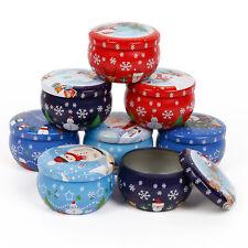 6/8pcs Xmas Candle Tin Christmas Tins WAX Soy Making Container Jar Organizer DIY