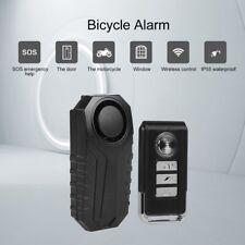 Drahtlos Fahrrad Alarmanlage Sirene max.113dB Anti-Diebstahl Sicherheit IP55 s0d