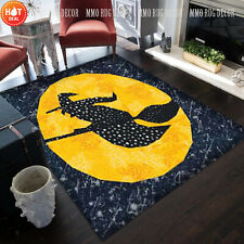 Moon Witch Rugs Halloween Pattern Carpets hallowen 2021 home decor