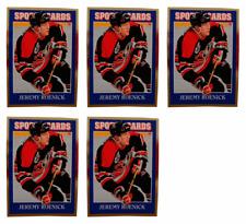 (5) 1992 Sports Cards #50 Jeremy Roenick Hockey Card Lot Chicago Blackhawks