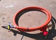 Propane Gas Burner, hose and Regulator . Set up for Forge or Furnace