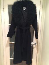 John Caruana laine et Mongolian Lamb noir vintage manteau taille 4