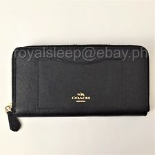 COACH Crossgrain Leather Accordion Zip-Around Wallet **Brand New w/ Tag**