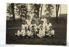 Photo Antique Team Players Foot Soccer Ball - An. 1920 30