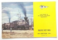 Vintage Pacific Fast Mail HO Scale Model Railroad Equipment Book 6th ed L11