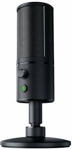 Razer Seiren X Desktop Cardioid Condenser Microphone SHOCK RESISTANT Mute button