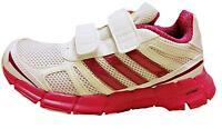 Adidas Chica adifast Cómodo Zapatillas q23373 BLANCO / Vivo Rosa Talla GB 11-5.5