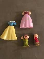 Disney Princess Snow White Rubber Dresses (2 Total) Grumpy & Dopey Figures