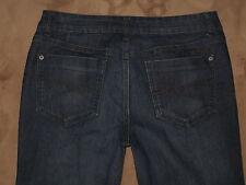 "DKNY Size 10 Straight Leg Dark Black Stretch Denim Womens Jeans 26"" Inseam"