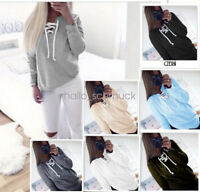 Fashion Women Sweatshirt Long Sleeve Hoodie Sweater Casual Hooded Pullover CD