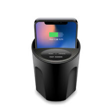 Qi Wireless Fast Charging Car Cup Charger For iPhone X/Samsung Galaxy S8/S7 edge