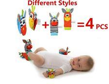New Baby Infant Cute Garden Bug Wrist Rattles & Foot Finders Set = (4 pcs)