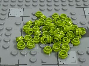 (50) LEGO Lime Green Round Plates 1x1 Flower (5 Petals) Plant Grass Leaves Herb