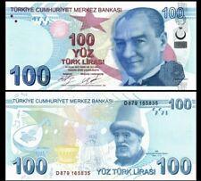 TURKEY 100 LIRA 2009 (2017) YEAR P 226c UNC