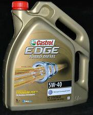 5 Liter Castrol EDGE FST  TITANIUM Turbo Diesel 5W-40 Motoröl 5W40  VW FORD