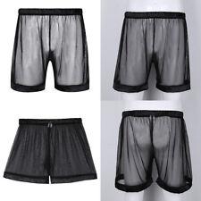 Mens Sexy Mesh Transparent Underwear Breathable Boxer Shorts Sports Underpants L