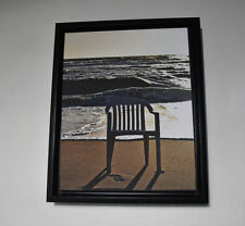 13''x16'&# 039; Chair on the Beach Print on Canvas Home Decor Walls Artwork