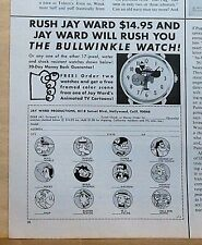 1971 magazine ad for Jay Ward Animation watches - Bullwinkle, Rocky and more