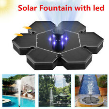 Solar Fountain with LED Light for Outdoor Pond Pool Fish Tank Garden Decoration