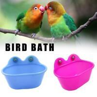 1pc Bird Water Bath Tub Pet Bird Cage Hanging Bowl Bath For Bird Basin Bird