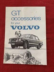 Original Vintage Volvo GT accessories  Brochure