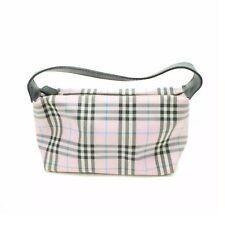 AUTH BURBERRY LONDON COSMETIC CLUTCH/HAND BAG NYLON WITH DUST BAG